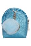 Brelok/portmonetka do kluczy brokat niebieski