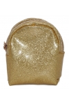 Brelok/portmonetka do kluczy brokat złoty