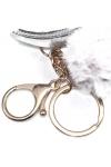Brelok/portmonetka do kluczy brokat srebrny
