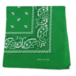 Chustka bawełniana chusta bandamka dzieci dorośli c.zielony