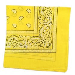 Chustka bawełniana chusta bandamka dzieci dorośli żółty