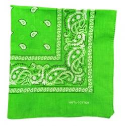 Chustka bawełniana chusta bandamka dzieci dorośli zielony