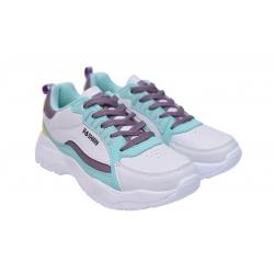 Obuwie sportowe sneakersy damskie BADOXX LXC-8007 biał/mięt