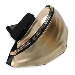 Nerka saszetka torebka  skóra ekologiczna złota zł