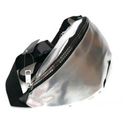 Nerka saszetka torebka  skóra ekologiczna srebrna sr
