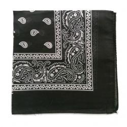 Chustka bawełniana chusta bandamka dzieci dorośli czarna