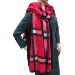 Szalik szal jesienno-zimowy modna krata AX-61-2