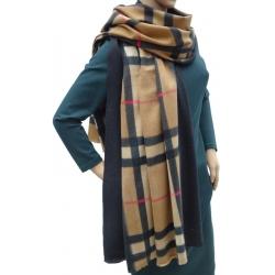 Szalik szal jesienno-zimowy modna krata AX-61-3