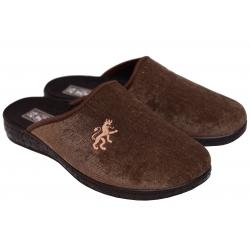 Kapcie męskie pantofle PAMI produkt polski brąz