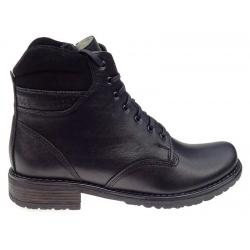 Workery zimowe damskie skórzane WB 264 czarne