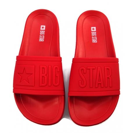 Klapki damskie Big Star DD274A270 czerwone