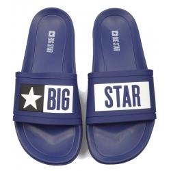 Klapki męskie Big Star  DD174701 granat