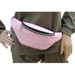 Nerka saszetka torebka  pikowana różowa cekiny HIT