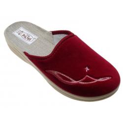 Kapcie pantofle damskie PAMI 040 bordowe