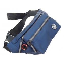 Saszetka nerka męska torba skóra ekologiczna niebieska