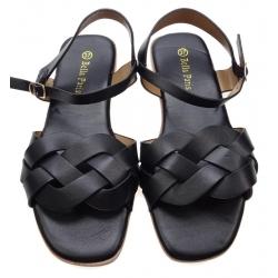 Sandały damskie płaskie RS208 czarne