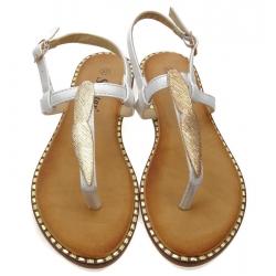 Sandały damskie japonki 163P białe