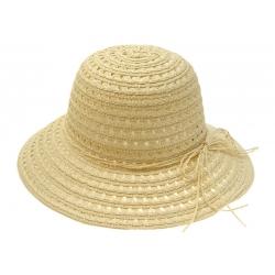 Kapelusz damski na lato plażowy ażurowy biały
