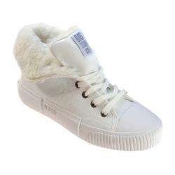 Sneakersy damskie ocieplane Big Star II274156 białe