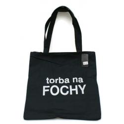 "Torba z nadrukiem ""torba na FOCHY"" czarna"