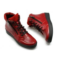 Sneakersy skórzane WB 260 czerwony