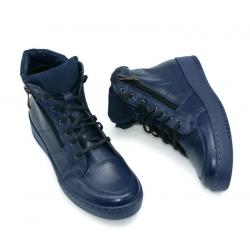 Sneakersy skórzane WB 260 granat