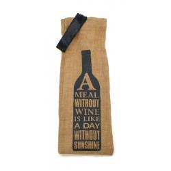 Opakowanie na wino worek napis z JUTY